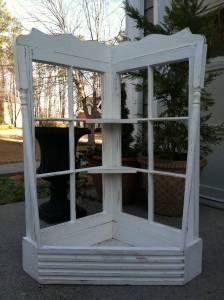 Old windows made into a window box planter. Garden Crafts, Garden Projects, Diy Projects, Garden Ideas, Box Garden, Dyi Crafts, Container Garden, Garden Gates, Vintage Windows