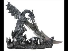 Wicked Fire Dragon Fantasy Letter Opener Knife Dagger and Holder Base Dragon Head, Fire Dragon, Baby Dragon, Prince Girl, Fantasy Dagger, Knife Holder, Dragon Figurines, Dagger Knife, Dragon Statue