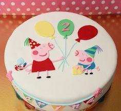 Tarta peppa pig, cake, infantil, fondant.