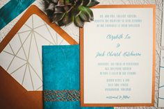 Love this invitation suite!