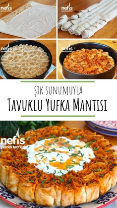 Tavuklu Yufka Mantısı (videolu) – Nefis Yemek Tarifleri – sağlıklı yemekler – Las recetas más prácticas y fáciles Chicken And Pastry, Chicken And Dumplings, Puff Pastry Recipes, Savory Pastry, Choux Pastry, Cream Cheese Pastry, Dumpling Dough, Tasty, Yummy Food