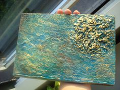 DIY Tutorial for using aluminum foil to create texture on an acrylic painting--inspiring.