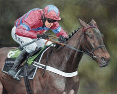 SPRINTER SACRE Limited Edition Horse Racing Print by Equestrian Artist Mark Scorer