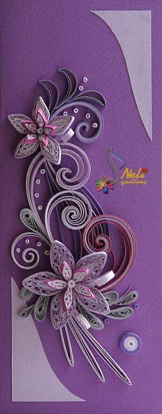 Purple Quilling Card - Neli Quilling Art
