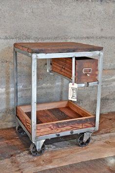 Vintage Frame Bar Cart