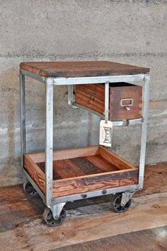 Vintage Frame Bar Cart