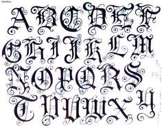 Diseños de letras - Nocturnar                              …