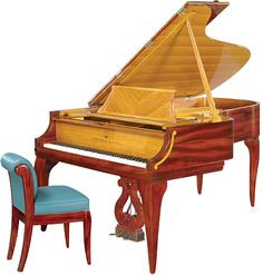 This masterpiece, the St. Croix Steinway, gets its name from the rich color palette created by the use of rare copper-red Cuban mahogany, found on the island of St. Croix.