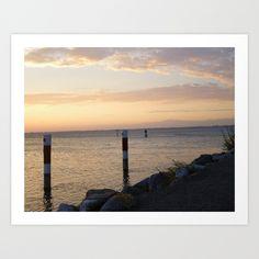 Venezia, Lagoon, Italy, Sunset, Sun, Adriatic Sea, Spring, Orange, Lilac, Yellow, Clouds, Sky, Blue, Sand, Rocks, Water, Landscape, Horizon