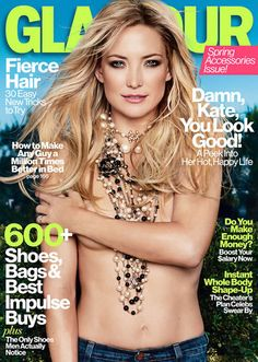 Sweet and Talented, Kate Hudsons Topless Cover of Glamour