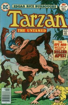 Tarzan October cover by Jose Luis Garcia-Lopez Comic Book Artists, Comic Books Art, Caricature, Arte Do Pulp Fiction, Tarzan Series, Marvel Comics, Robert E Howard, Tarzan Of The Apes, Classic Comics