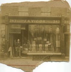 J A VIGOR my great grandfathers tailoring business in 243 Royal College st.Camden Town London in the 1920s. We have come a long way. marilynmoore.com. Marilyn Moore cashmere  Now in Archway street Barnes.  London SW13 0PP #britishdesign#camden#london history
