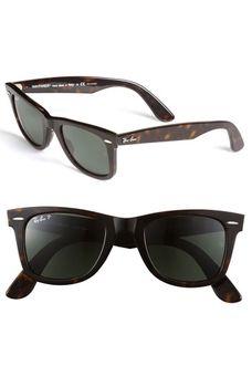 Ray-Ban 'Classic Wayfarer' Polarized 50mm Sunglasses $200.00 @Nordstrom #mens #sunglasses