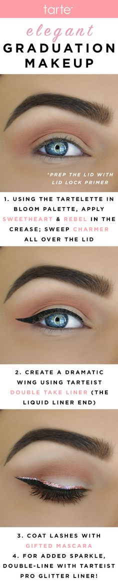 Try this elegant #graduation eye look using only a few tarte products! #tartecosmetics #naturalartistry #slaywithclay #classof2017