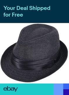 Children Boys Fedora Trilby Derby Straw Hat Wide Brim Panama Jazz Cap Summer cd824b047a91