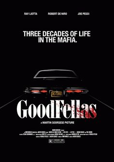 Goodfellas (1990) ~ Minimal Movie Poster by Dmitri Thompson #amusementphile