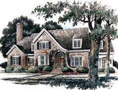 LOVE! Eplans French Country House Plan - Cozy Kitchen Plan with Large Keeping Room - 4246 Square Feet and 4 Bedrooms(s) from Eplans - House Plan Code HWEPL13518