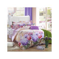 Bed Quilt Duvet Sheet Cover 4PC Set Upscale Cotton Sanded simple but elegant 022