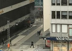 #world #news  Vehicle driven into people on city street in Swedish capital
