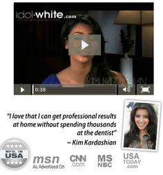 #KimKardashian love #whiteTeethPen , get White Teeth Now