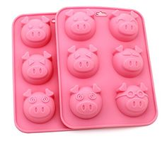 [Set of 2] Zicome 6 Cavities Pig Silicone Cake Baking Mold Handmade Soap Moulds Cake Pan Muffin Cups Biscuit Chocolate Ice Cube Tray DIY Mold, Pink ZICOME http://www.amazon.com/dp/B00UNEFZ0I/ref=cm_sw_r_pi_dp_.fbPwb1KWXN6A