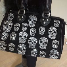 Crystal Face Skull Bag