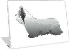 Skye Terrier Dog Basic Breed Silhouette by TriPodDogDesign