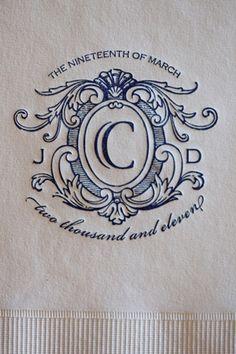Monogramed napkins Fashionable Florida Wedding by Justin DeMutiis « Southern Weddings Magazine