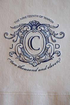 pretty crest for invitations | Justin DeMutiis