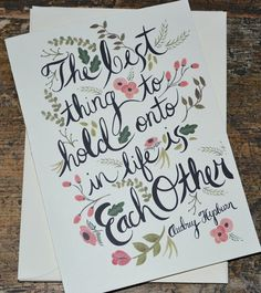 Audrey Hepburn Quote - Anniversary Gifts for 16th anniversary