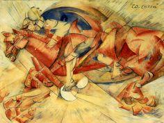 Il Cavaliere Rosso di Carlo Carrà - Museo del Novecento Milano