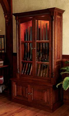 Just found this Wood Gun Cabinets - Cherrywood Security Gun Cabinet -- Orvis on Orvis.com!