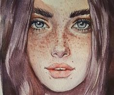 424 images about A R T - G I R L on We Heart It | See more about art, drawing and girl Watercolor Face, Watercolor Portraits, Watercolor Illustration, Watercolor Paintings, Watercolor Trees, Watercolor Landscape, Abstract Paintings, Oil Paintings, Painting Art