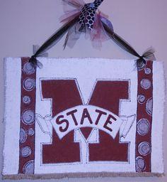 Mississippi State University Door Hanger.