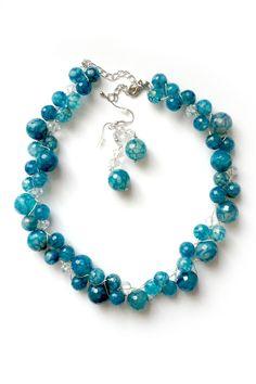 Sodalite Eva Necklace Set on Emma Stine Limited. Love this color.