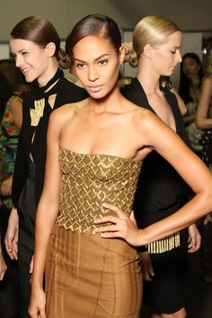 Backstage the Altuzarra show during NYFW
