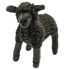 Handcrafted 7 Inch Lifelike Little Black Lamb Stuffed Animal by Hansa