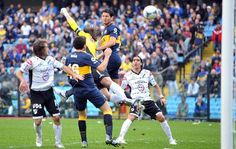 Torneo Inicial 2012 | Boca derrotó a All Boys en La Bombonera y consiguió su segundo triunfo consecutivo (Foto: Cadena3) | Leé la nota completa en http://www.lapampadiaxdia.com.ar/2012/08/torneo-inicial-2012-boca-derroto-all.html