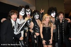 KISS and The Band Perry!! Reid could be a member of KISS!!!! Haha!