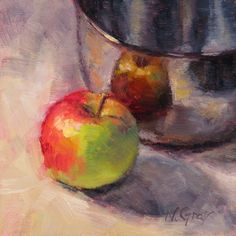 Naomi Gray - Apple and Silver Bowl...what a tremendous study of color representing each item and the composition it creates.  Beautiful.
