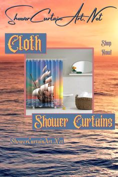Drastically enhance your bathroom decor with a soft & stylish fabric shower curtain from Shower Curtain Art. Rustic Bathroom Shelves, Rustic Bathroom Designs, Rustic Bathroom Vanities, Modern Bathroom Design, Bathroom Interior Design, Bathroom Fixtures, Interior Modern, Kitchen Interior, Nautical Shower Curtains