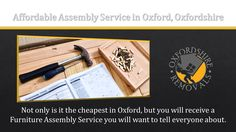 Affordable Assembly Service in Oxford Oxfordshire.