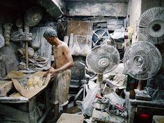 Photo: Man making noodles