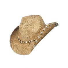 4c97a17b45800 Peter Grimm  Quarter Drifter   Cowboy hat. Brown with white shells.  Features the