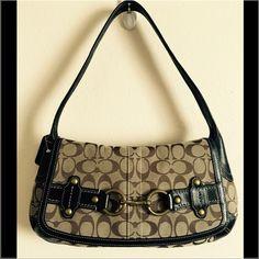 SALE Authentic Coach bag % Authentic Coach bag. Like new! No damage at all. Ergo Belted Flap Signature Handbag Purse. STYLE: 11277. Retails for $328.00+ TAX. Measurement 14X8X1 . SHOULDER DROP 9. Classical brown/bronze signature logo on a beige canvas. Dust bag included. Coach Bags Shoulder Bags