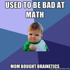 Success Kid #meme #memes #funny #education #humor #haha #LOL #math #brainetics #successkid #memebase #quickmeme