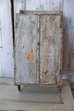 Wall cupboard shabby chic white primitive farm by AnitaSperoDesign, $225.00