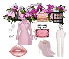 pink by annamajewska on Polyvore featuring moda, WithChic, Jil Sander, Ralph Lauren, Adolfo Courrier, MAC Cosmetics, Lime Crime, Gucci and Improvements