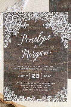 Приглашения на рустик свадьбу