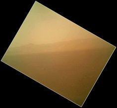 From Curiosity... Once the dust cover is removed, the images will be a lot clearer. This is the north rim of Gale Crater.